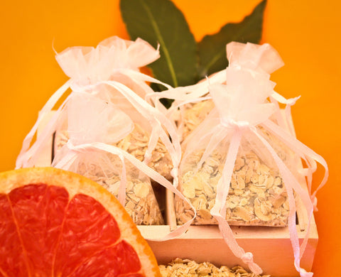 Bath Tea Bags (x 10) - Rooibos (Red Tea), Gluten Free Oats, Epsom Salts and Grapefruit extract