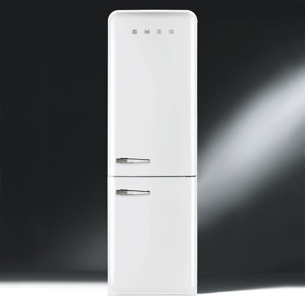 Smeg  FAB32RBN1 60cm Ice-White Retro Fridge-Freezer MaxiPlus 328L capacity Right Hinged Energy Rating: A++