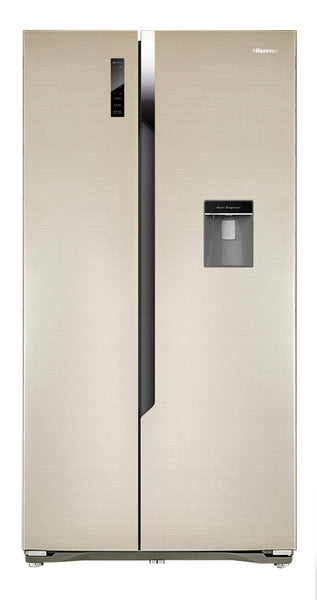 HISENSE H670SG-WD 516L Side By Side Fridge Freezer With Water Dispenser Dream Gold