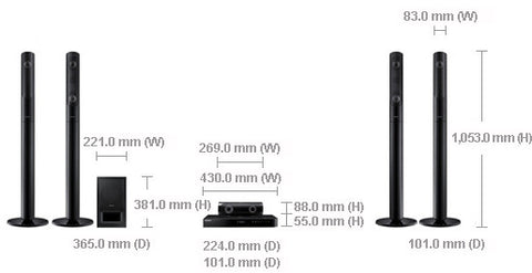 Samsung HT-J5550K Blu-ray Home Entertainment System