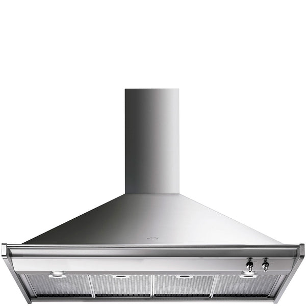 Smeg  KD120XE 120cm Stainless Steel Classic Wall Mount Extractor Hood