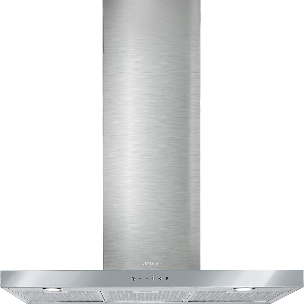 Smeg  KS905SXE 90cm Stainless Steel and Silver-mirrored Glass Linea Extractor