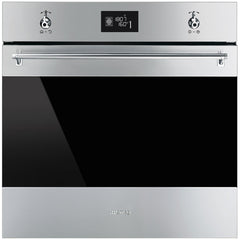 Smeg  SF6390XE 60cm Classic Stainless Steel and Black Eclipse Glass Multifunction Thermoventilated Electric Oven Energy rating: A+
