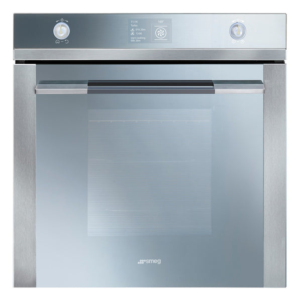 Smeg  SFP130E 60CM Stainless Steel and Silver Glass Linea Pyrolitic Electric Oven