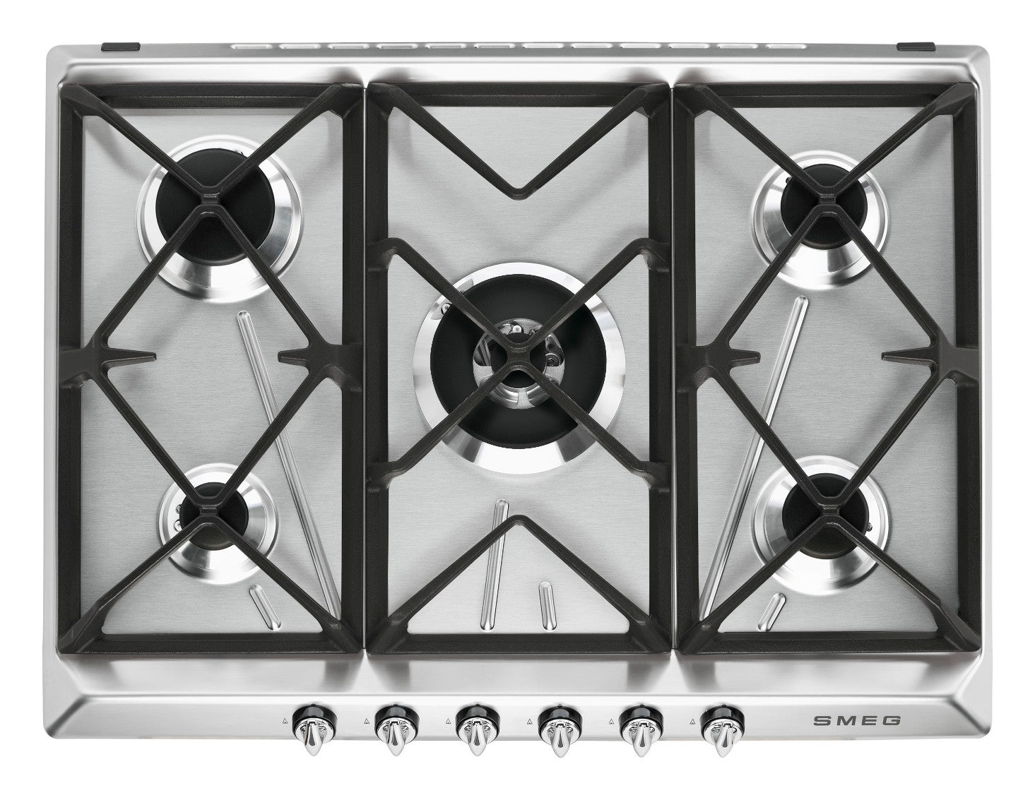 Smeg  SR975XGH 70cm Stainless Steel Victoria Traditional 5 Burner Gas Hob