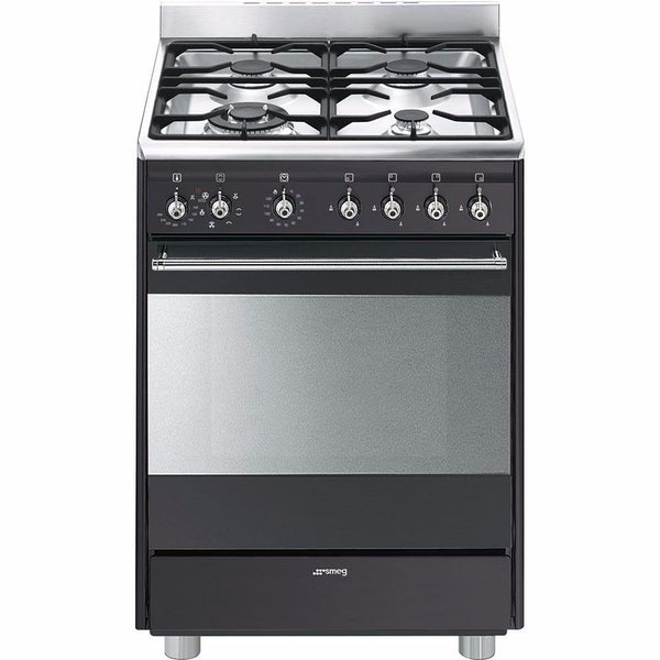 Smeg  SSA60MA9 60cm Anthracite Concert Cooker with 4 Burner Gas Hob and Multifunction Thermoventilated oven Energy rating: A