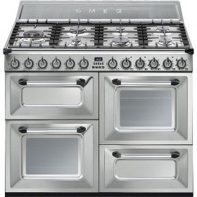 Smeg  TR4110X 110cm Stainless Steel Victoria Traditional Range Cooker with 7 Burner Gas Hob Energy Rating: A+
