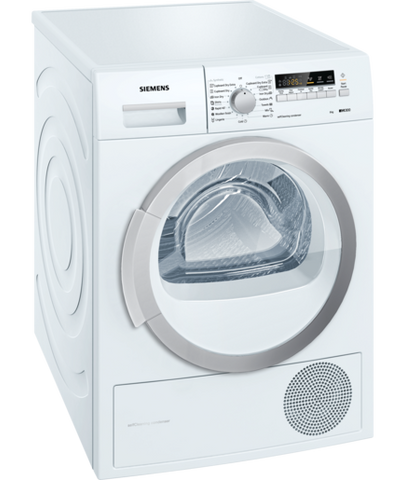 Siemens iQ300 WT66B200BY Freestanding Conderser Tumble Dryer White
