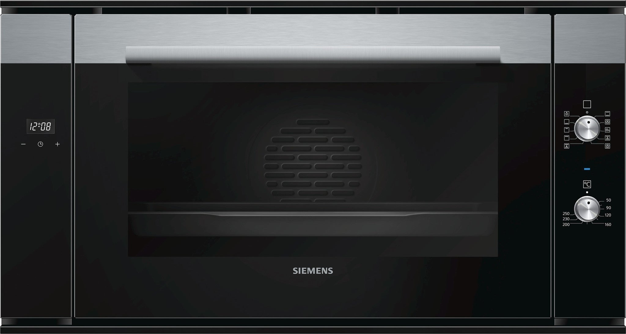 Siemens iQ500 HV541ANS0 90cm Electric Single Oven Black / Stainless Steel