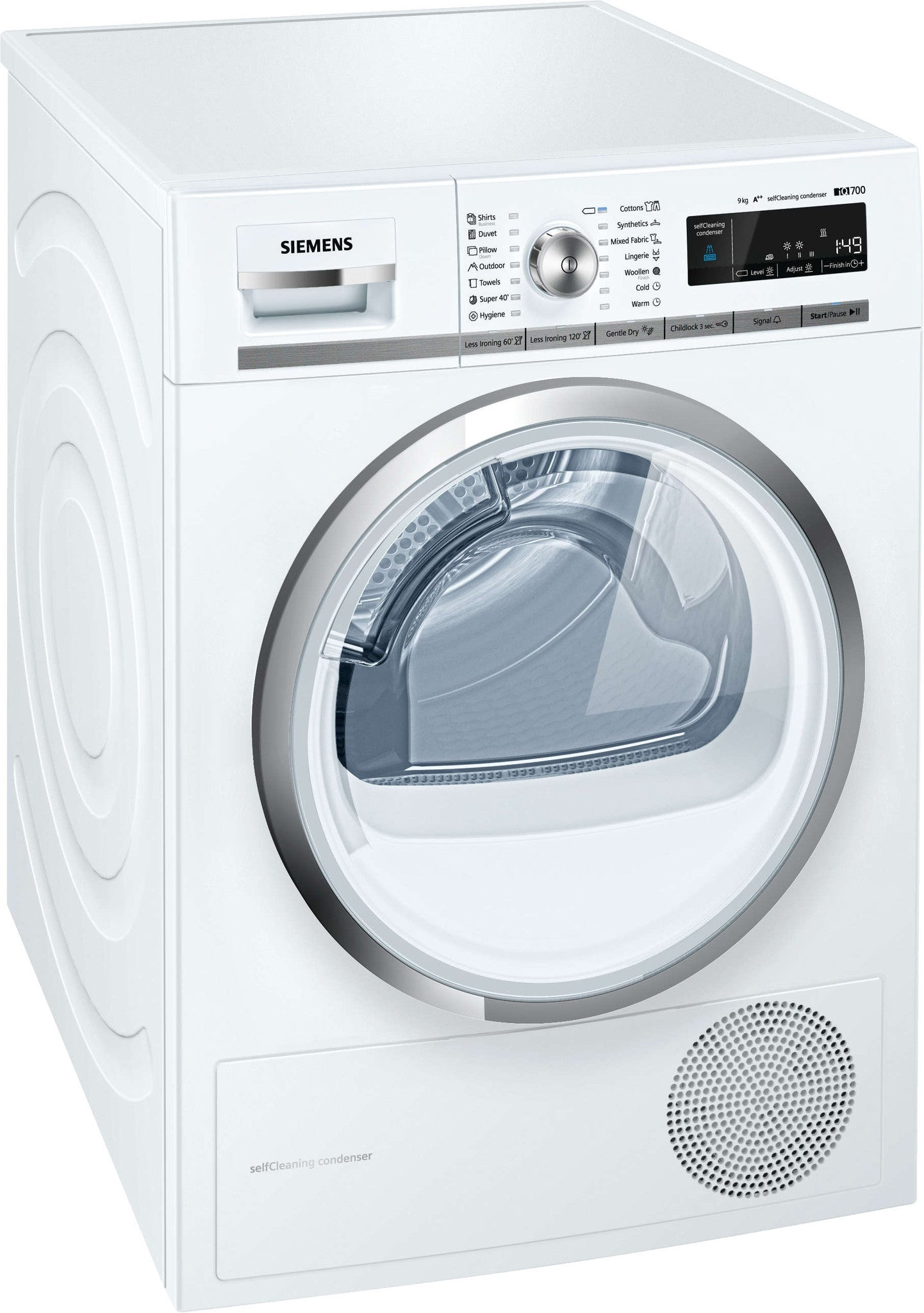 Siemens iQ700 WT47W540BY Freestanding Conderser Tumble Dryer White
