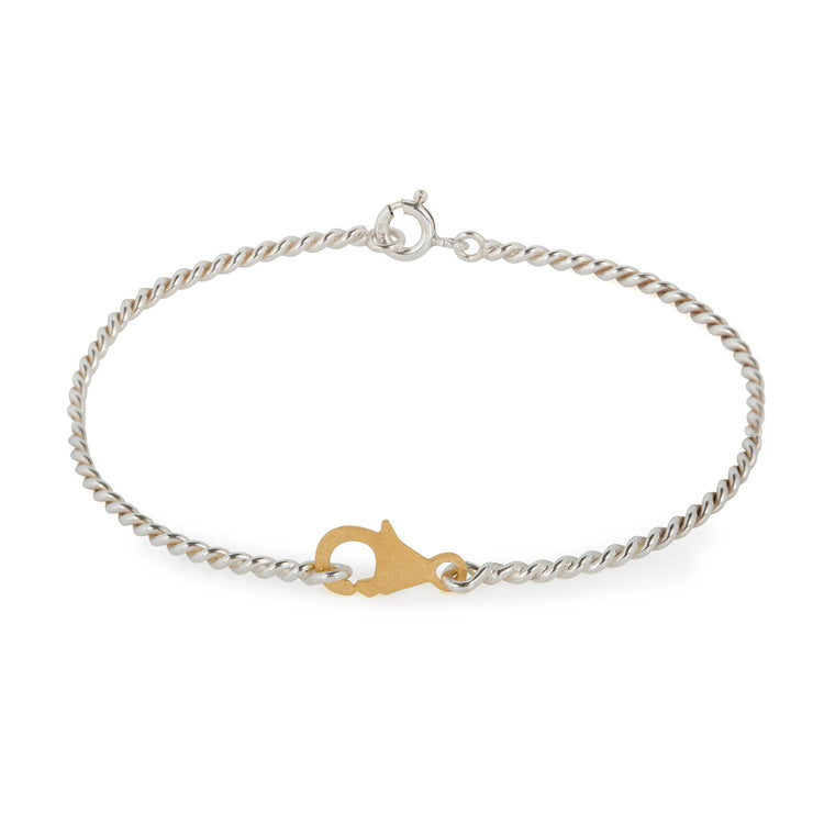 Delicate Bracelet with Clasp Detail Gold Plated / Silver