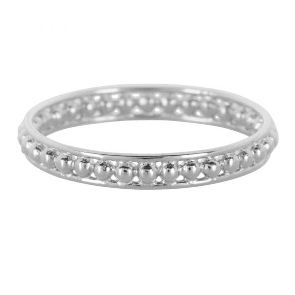 Double Ring Dots Silver