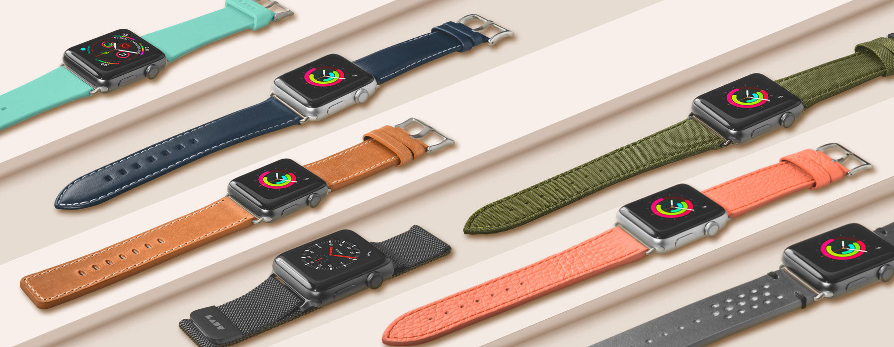 LAUT Unveils Range of Watch Straps for Series 4 Apple Watch at CES 2019