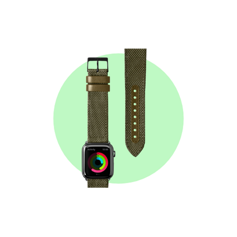 Milano Watch Strap for Apple Watch Strap Series 1-6 & SE in Color Olive Green