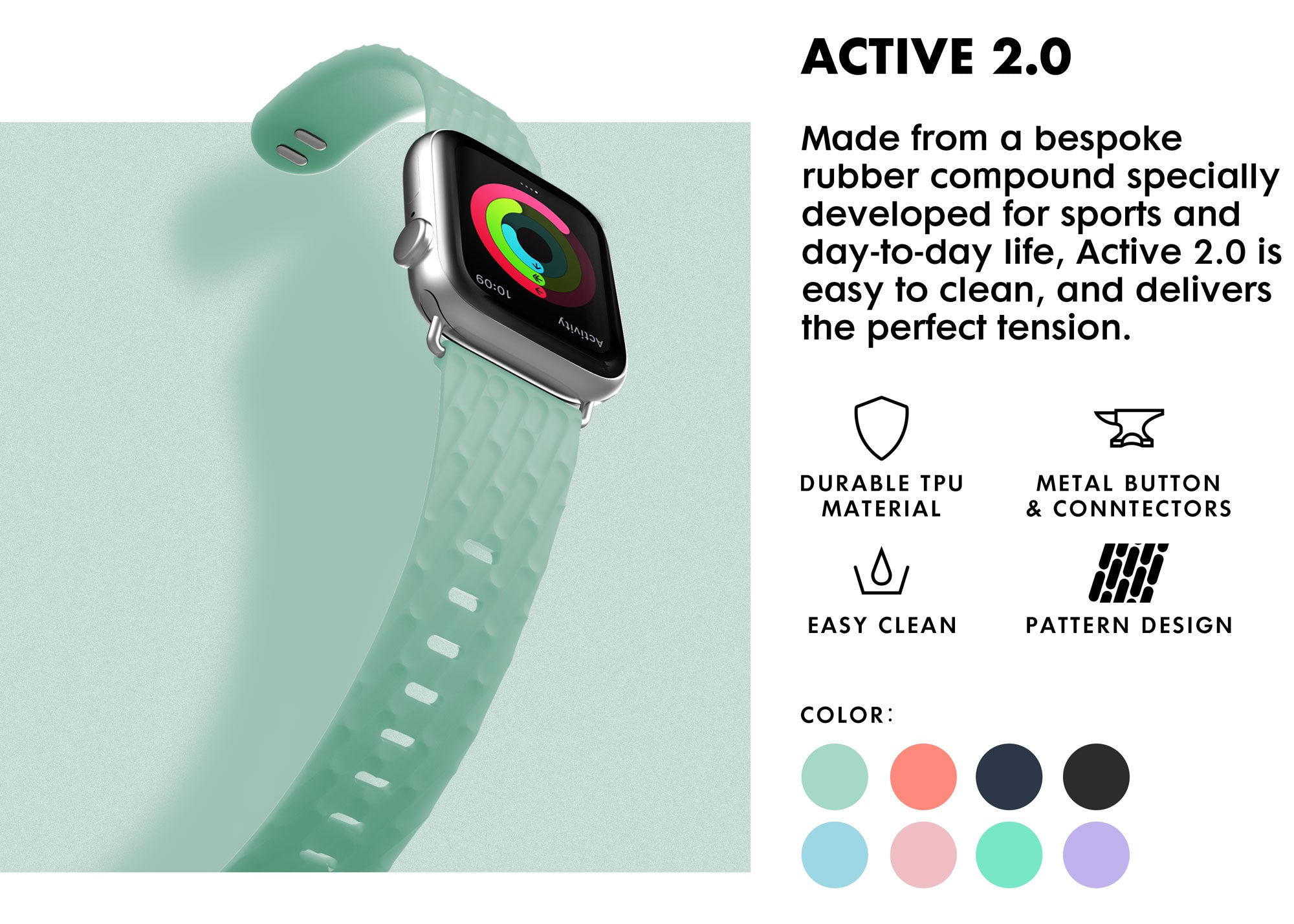 LAUT - Active 2.0 Watch Strap for Apple Watch