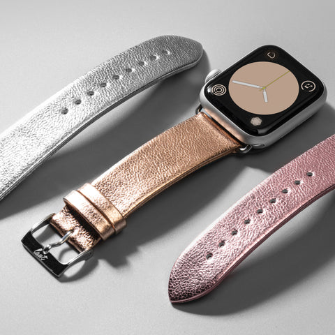 LAUT - METALLIC Leather Watch Strap for Apple Watch Series 1/2/3/4/5
