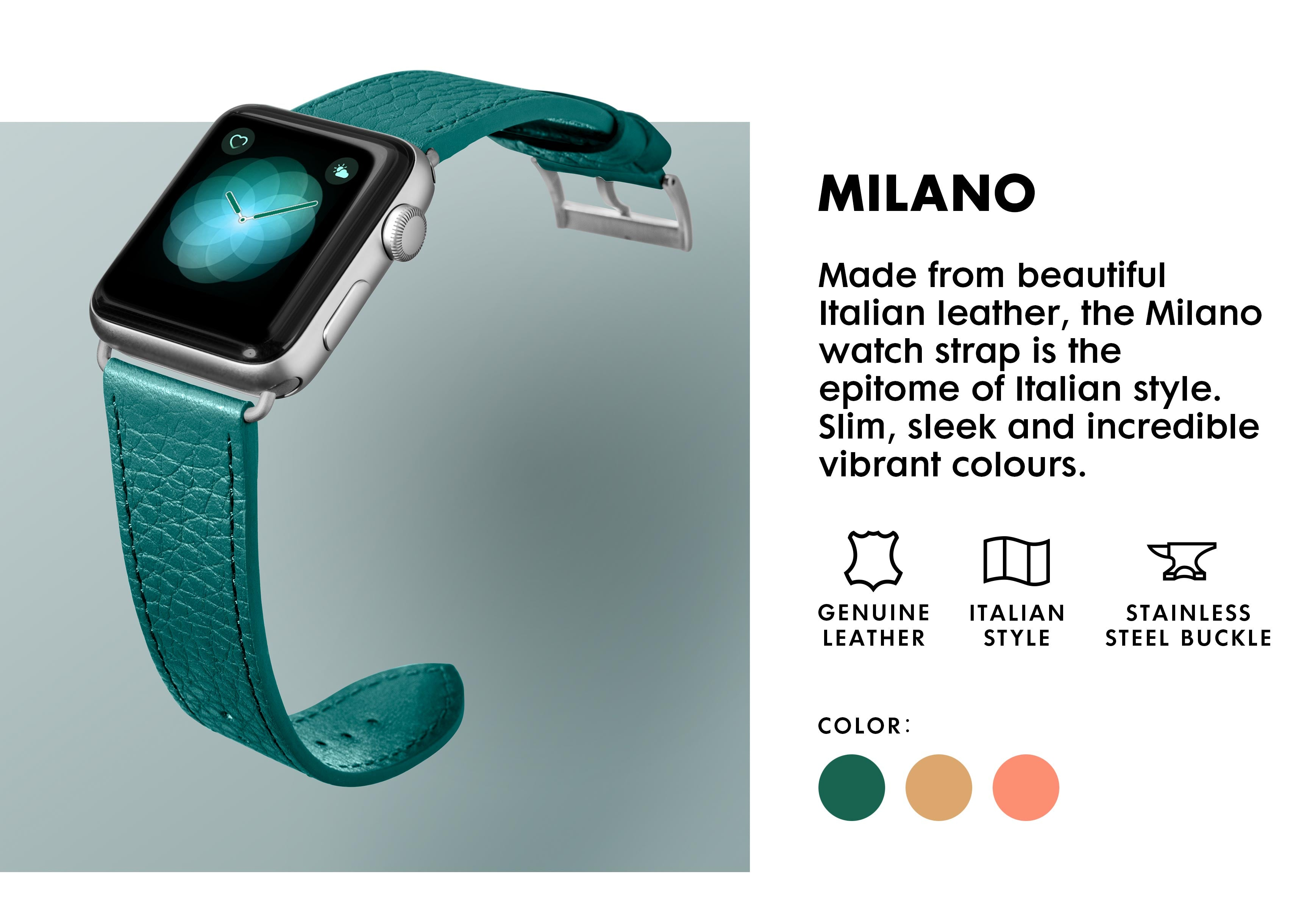 LAUT - Milano Watch Strap for Apple Watch