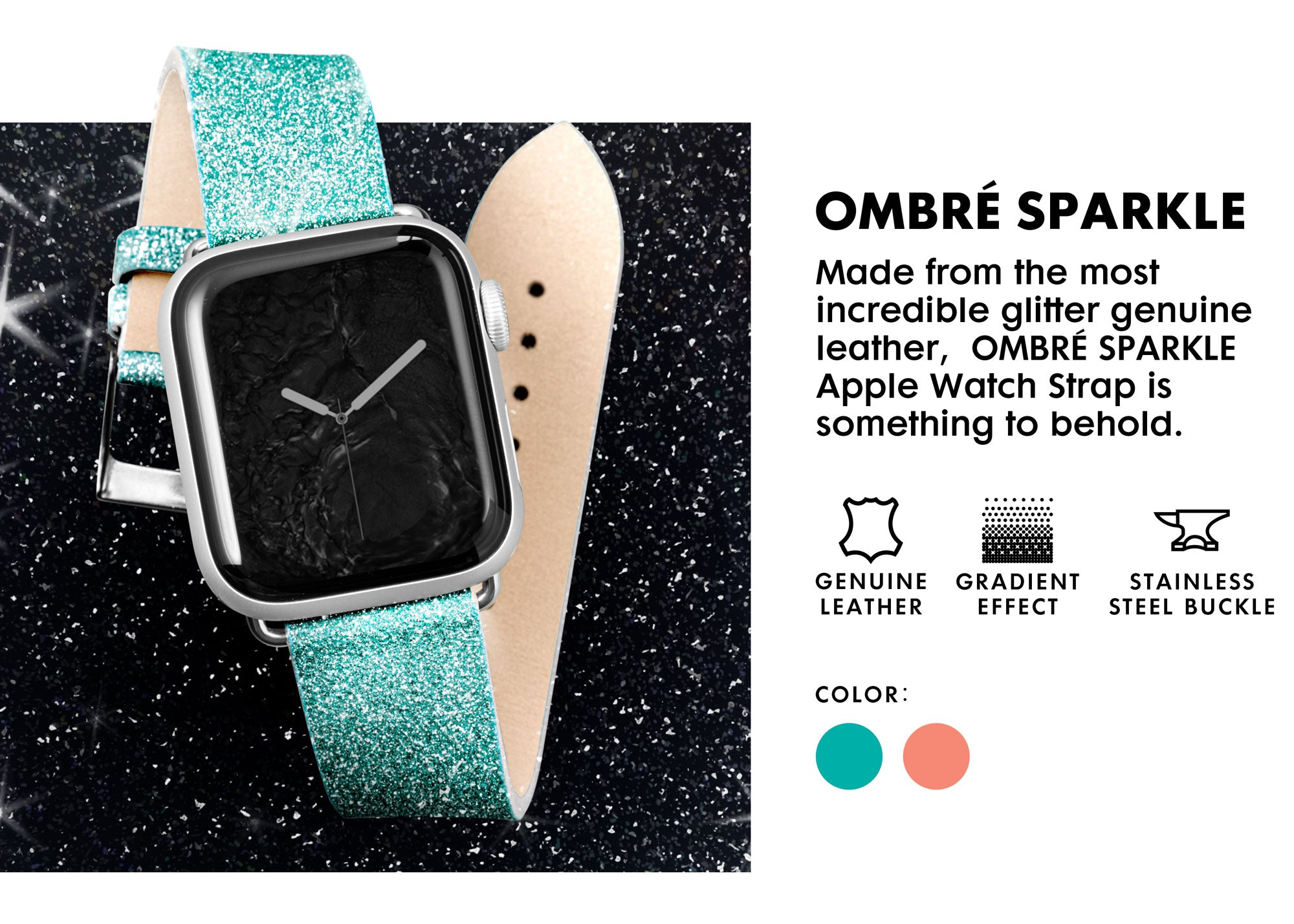 LAUT - Ombre Sparkle Watch Strap for Apple Watch