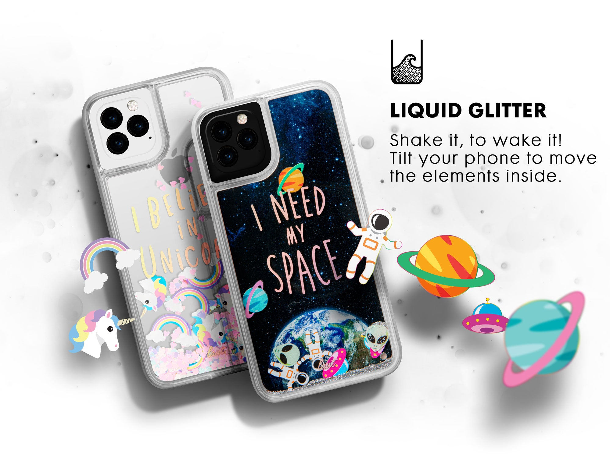 LAUT GLITTER UNICORNS for iPhone 11 | iPhone 11 Pro | iPhone 11 Pro Max
