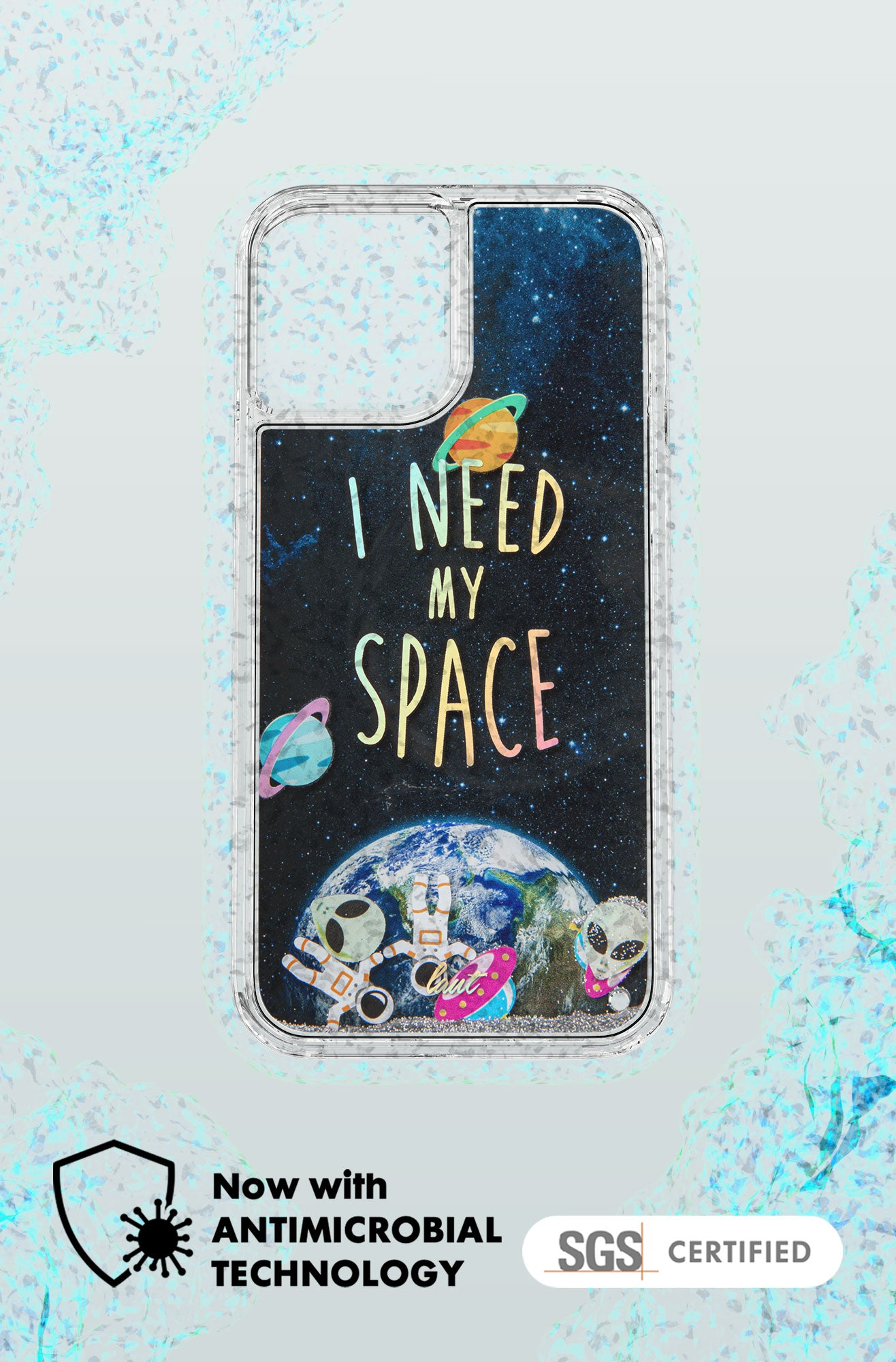 LAUT - SPACE Liquid Glitter case for iPhone 12 series