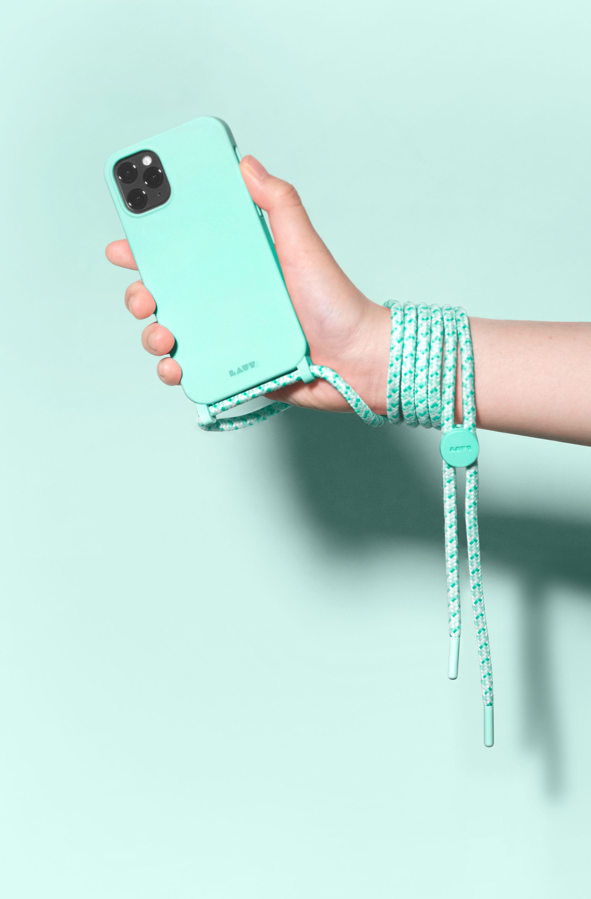 LAUT - HUEX PASTELS NECKLACE case for iPhone 12 series
