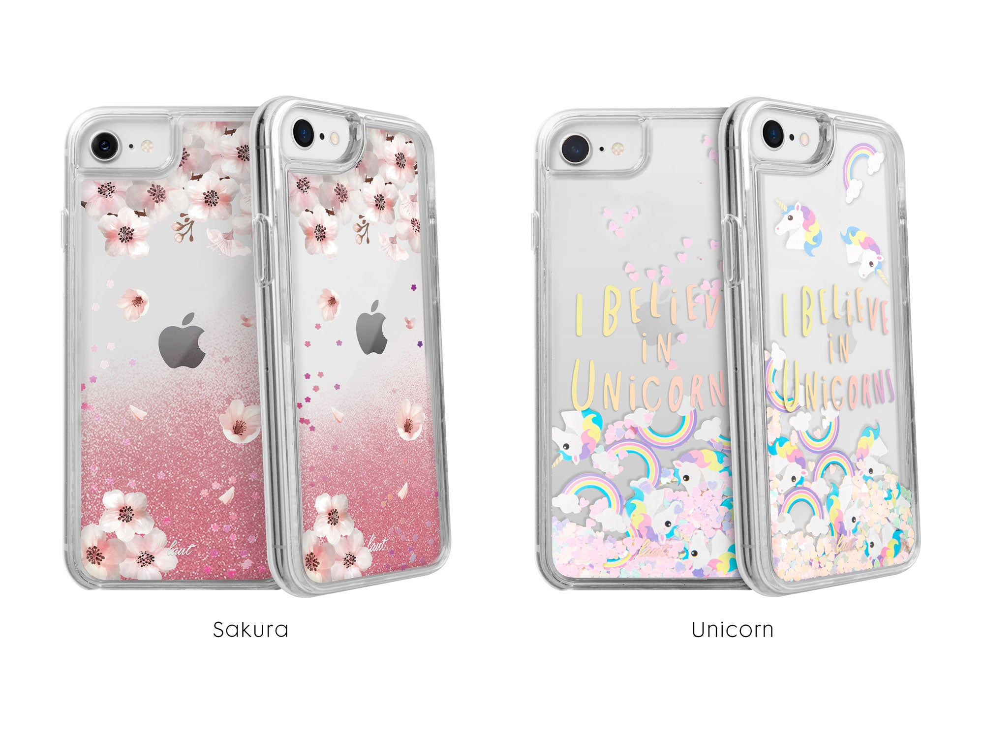 LAUT - Liquid GLITTER SAKURA for iPhone SE 2020