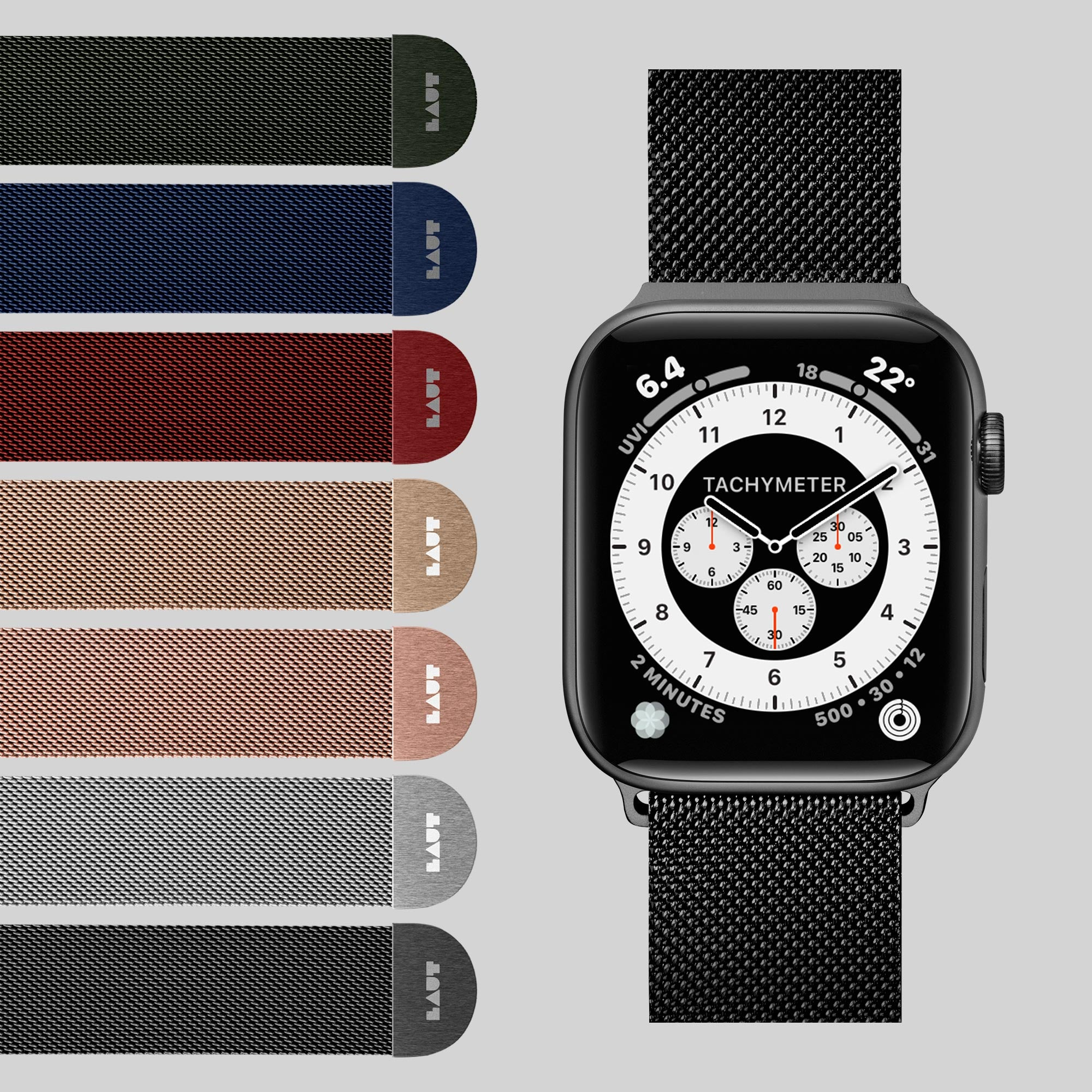 LAUT-Steel Loop Watch Strap for Apple Watch Series 1/2/3/4-Watch Strap-For Apple Watch Series 1/2/3/4