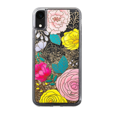 LAUT-GLITTER FLORAL for iPhone XR-Case-For iPhone XR