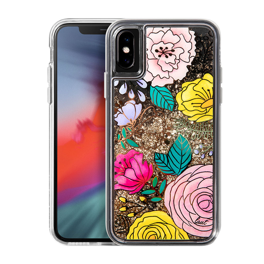 LAUT-GLITTER FLORAL for iPhone XS-Case-For iPhone XS