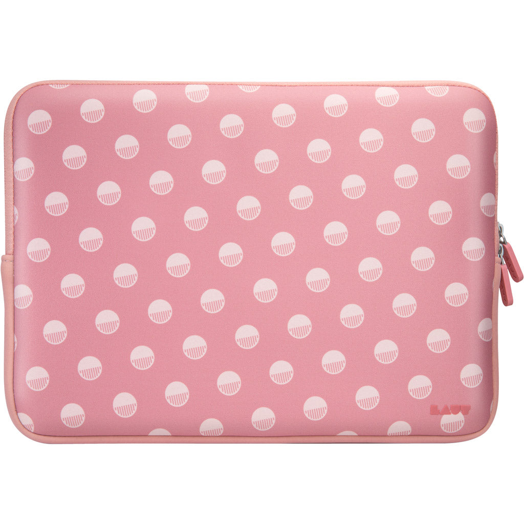 LAUT-POP Polka Pink Protective Sleeve for Macbook 13-inch-Case-For MacBook 13""