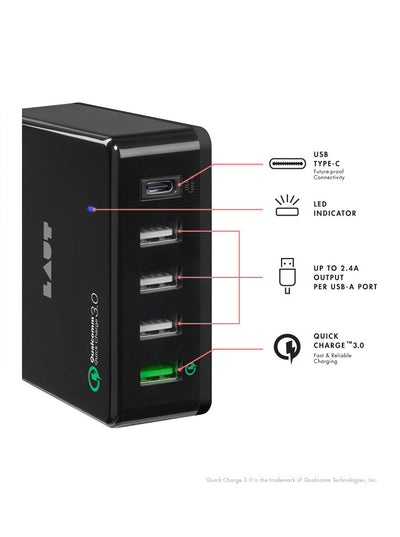LAUT-QUINT-X2 USB CHARGER-Power-For Smartphone & Tablet