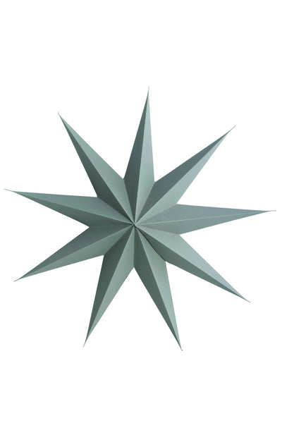 Grey paper star 9 point 45cm