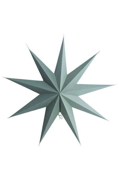 Grey paper star 9 point 60cm