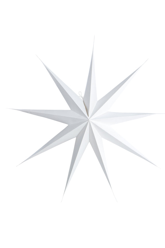 White paper star 9 point 87cm