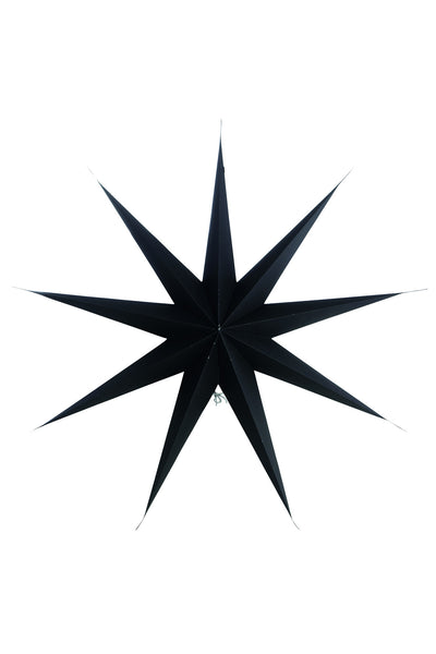 Black paper star 9 point 87cm