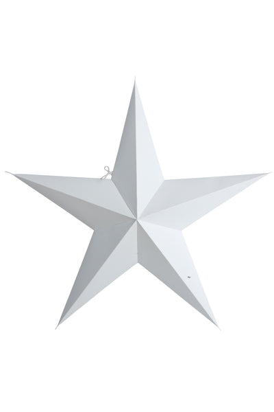 White paper star 5 point 60cm