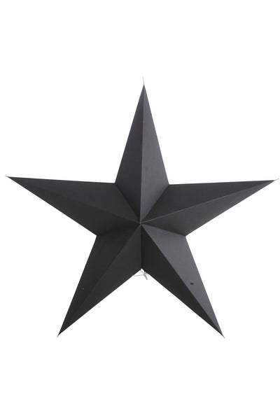 Black paper star 5 point 45cm