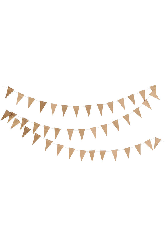 Gold paper triangle garland