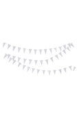 White paper triangle garland