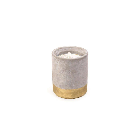 Concrete scented candle 'amber & smoke' SMALL