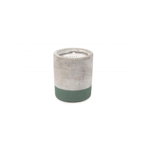 Concrete scented candle 'eucalyptus & santal' SMALL