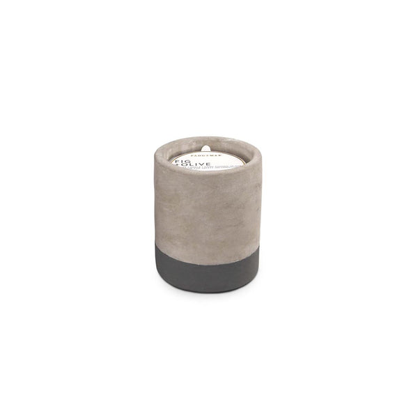 Concrete scented candle 'fig & olive' SMALL