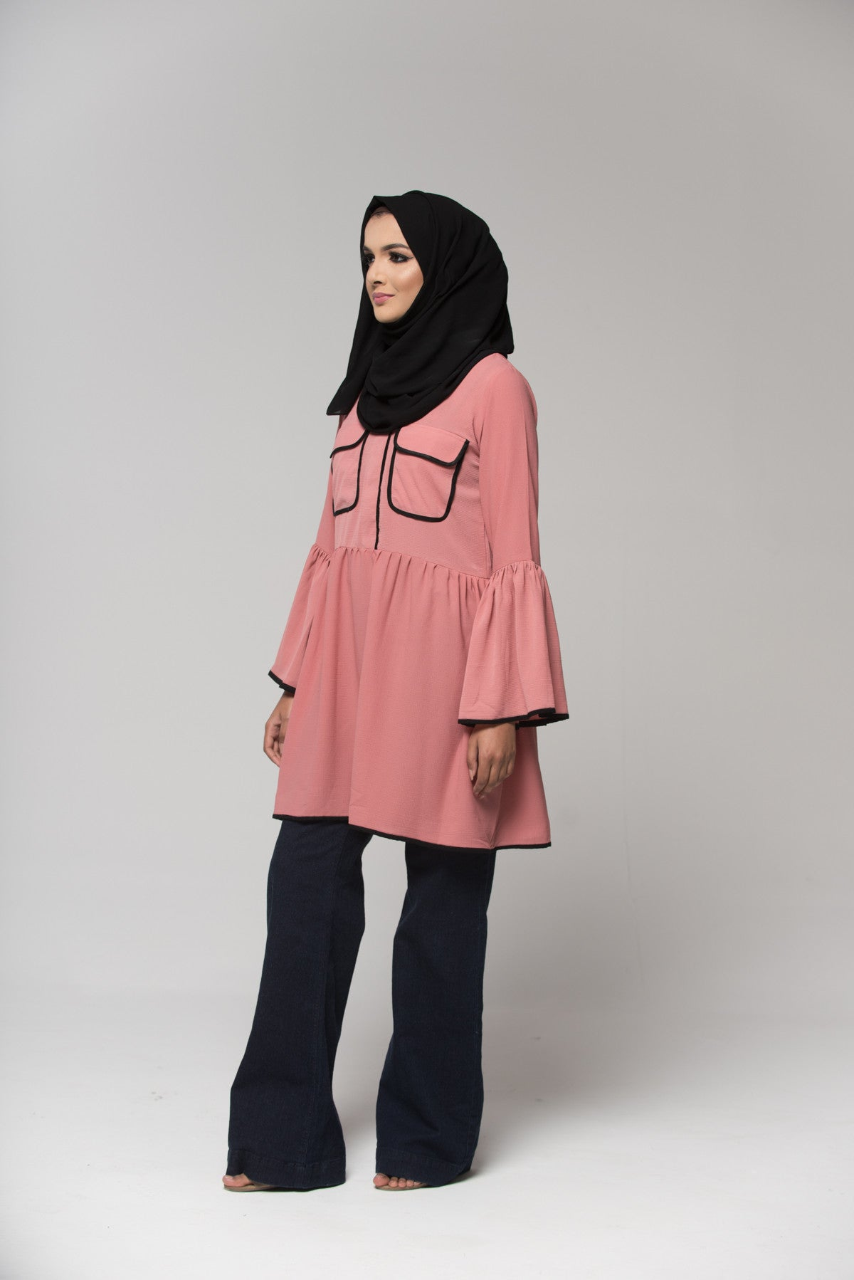Bell Sleeved Peplum Top