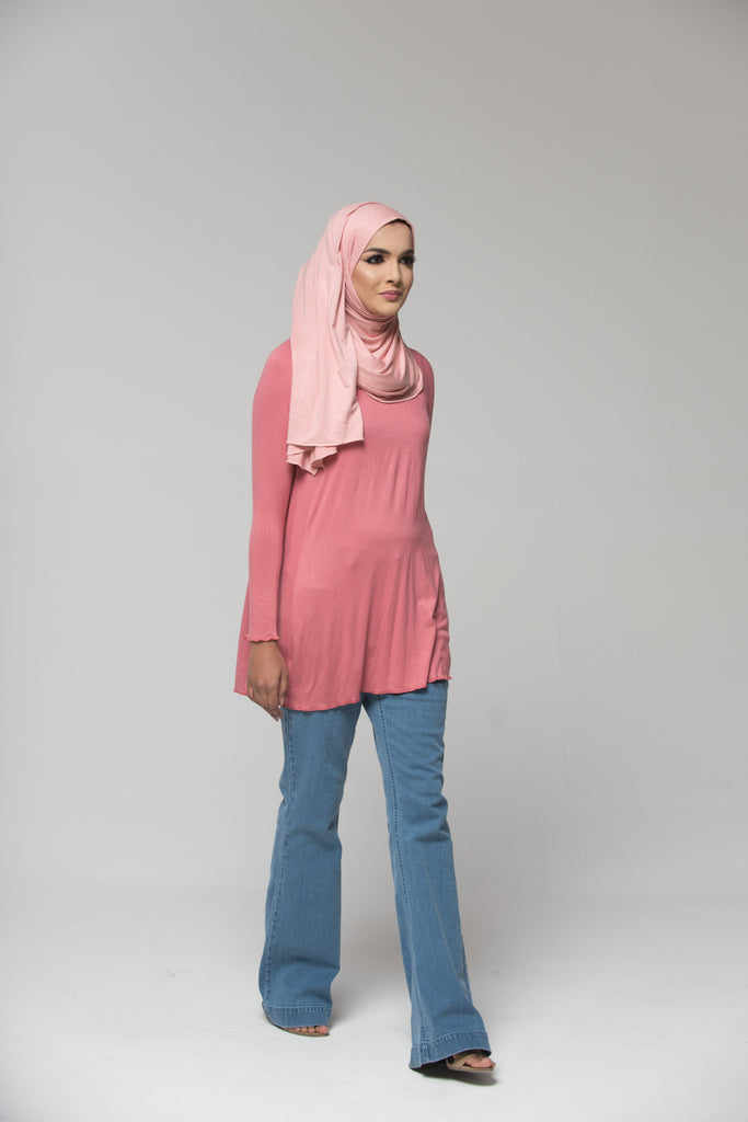 Blush Pink Cotton Blend Top