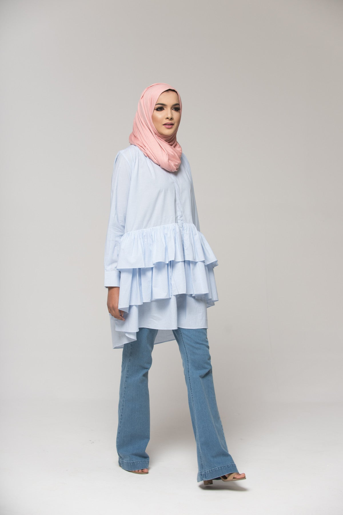 Oversized Ruffle Top