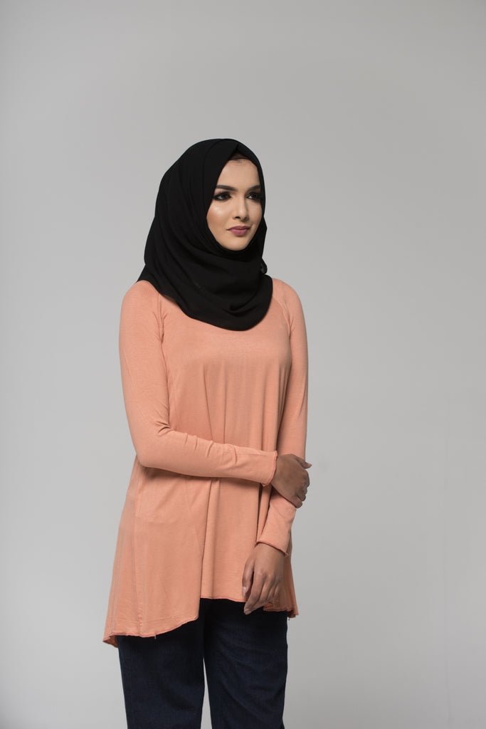 Peach Cotton Blend Top