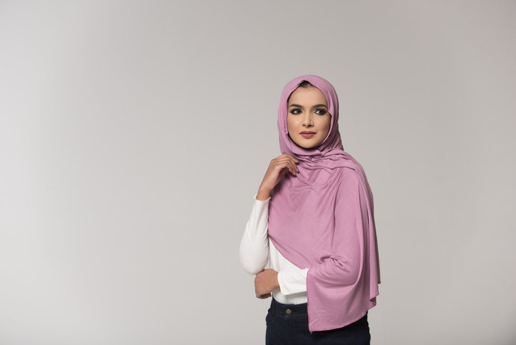 Lilac Cotton Jersey Hijab