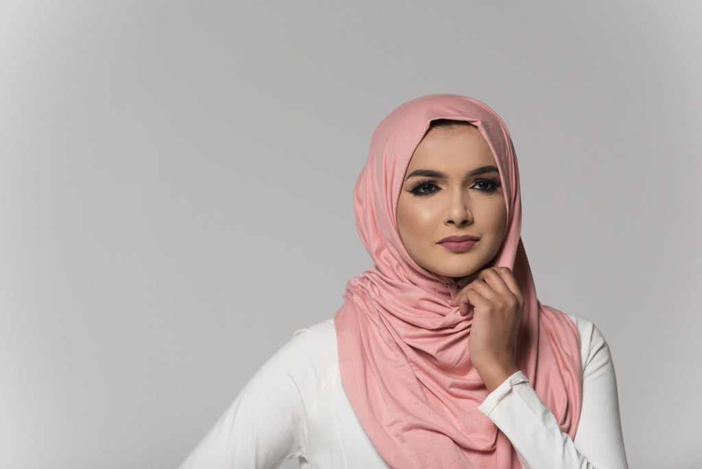 Light Pink Cotton Blend Hijab