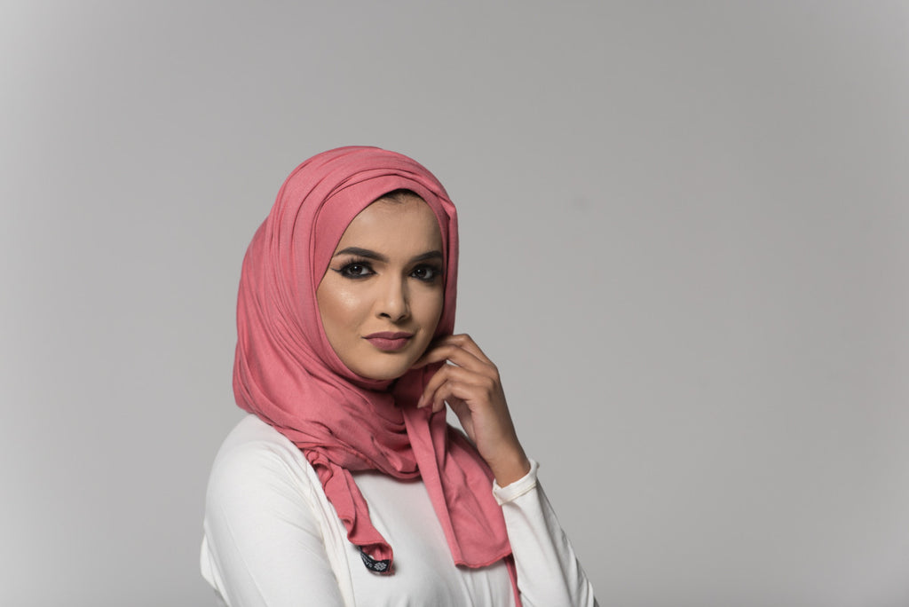 Blush Pink Cotton Jersey Hijab