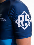 Blue Short Sleeve Ranked Rashguard